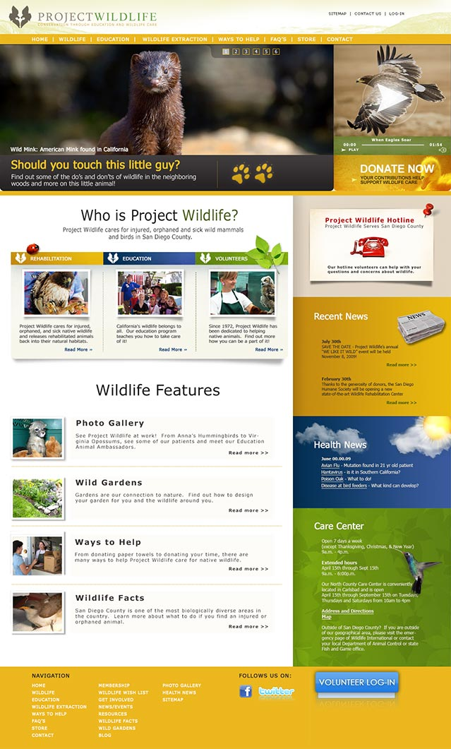 surus builds PW's home page
