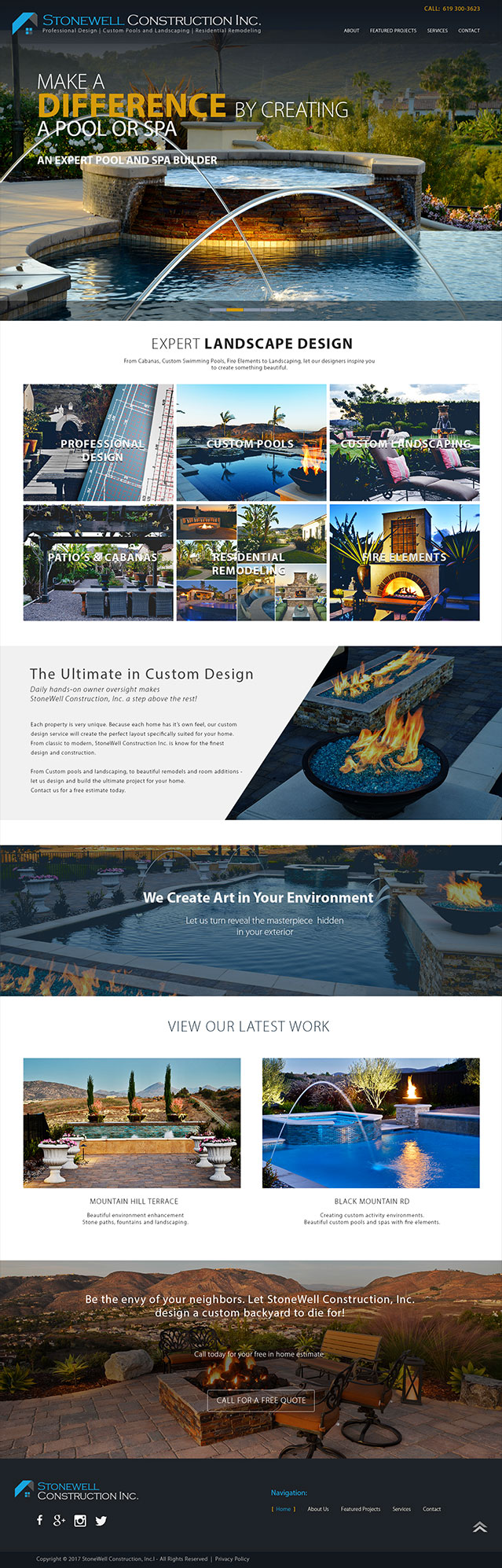 surus builds Stonewell construction's home page